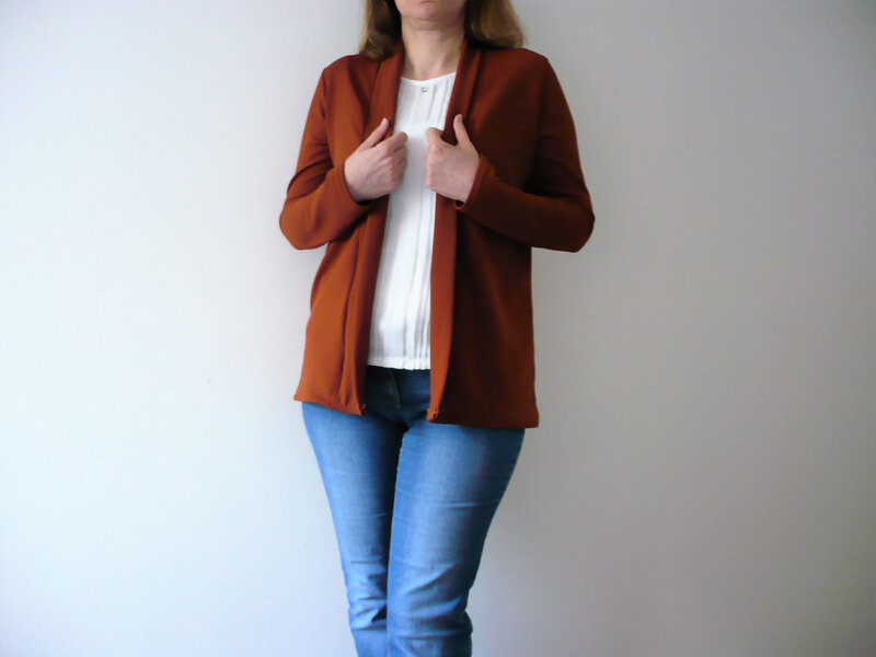 Gilet Cannelle Ocre 2