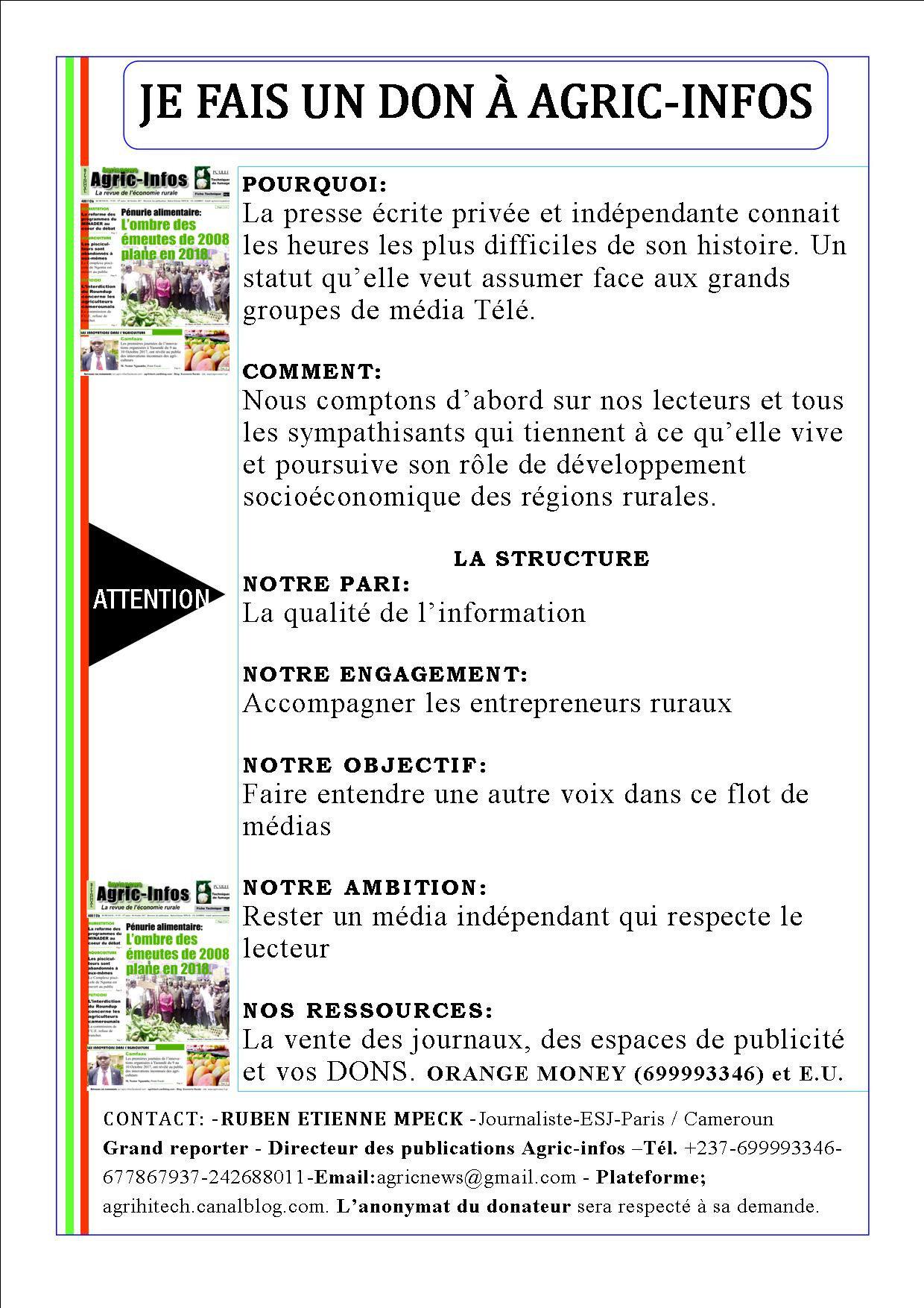 Agric-infos : votre espace de communication