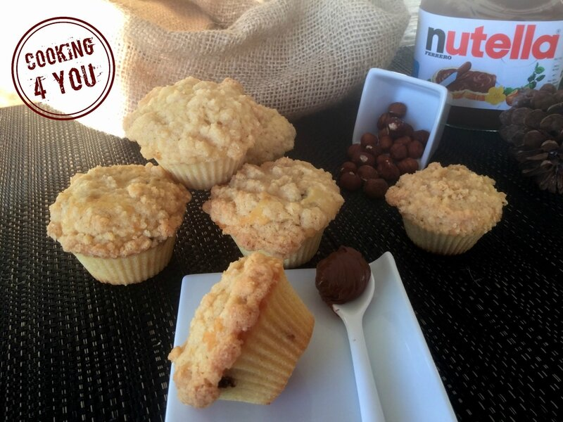 crumble sur muffins Nutella 014