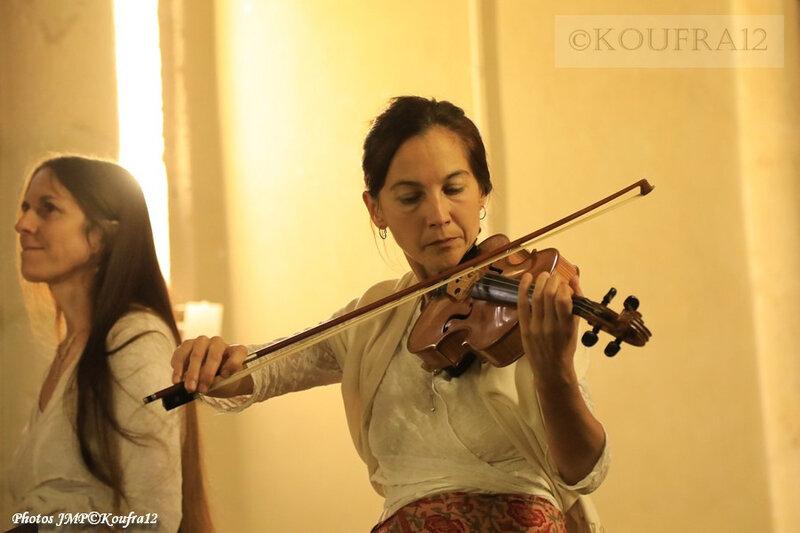 Photos JMP©Koufra 12 - Le Caylar - Marie Andrée Lise - Harpe Violon - 22092019 - 0014