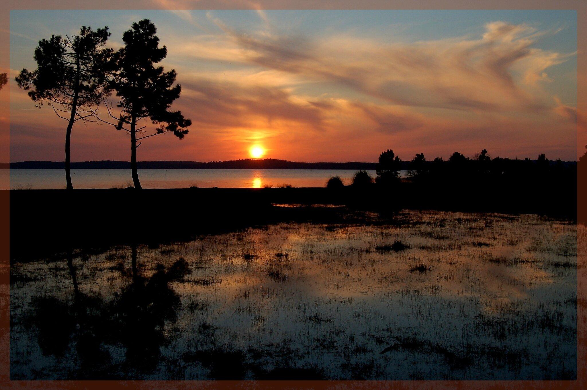 coucher de soleil plage du port