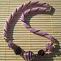 4 colliers perlés