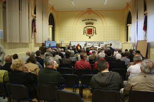 salle barrages Sélune législatives 2012 Ducey réunion débat