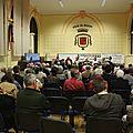 Guénhaël huet et les autres candidats aux législatives contre l'arasement des barrages sur la sélune - ducey (50) - 26 mai 2012