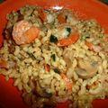 concours...coquillettes facon risotto aux crevettes