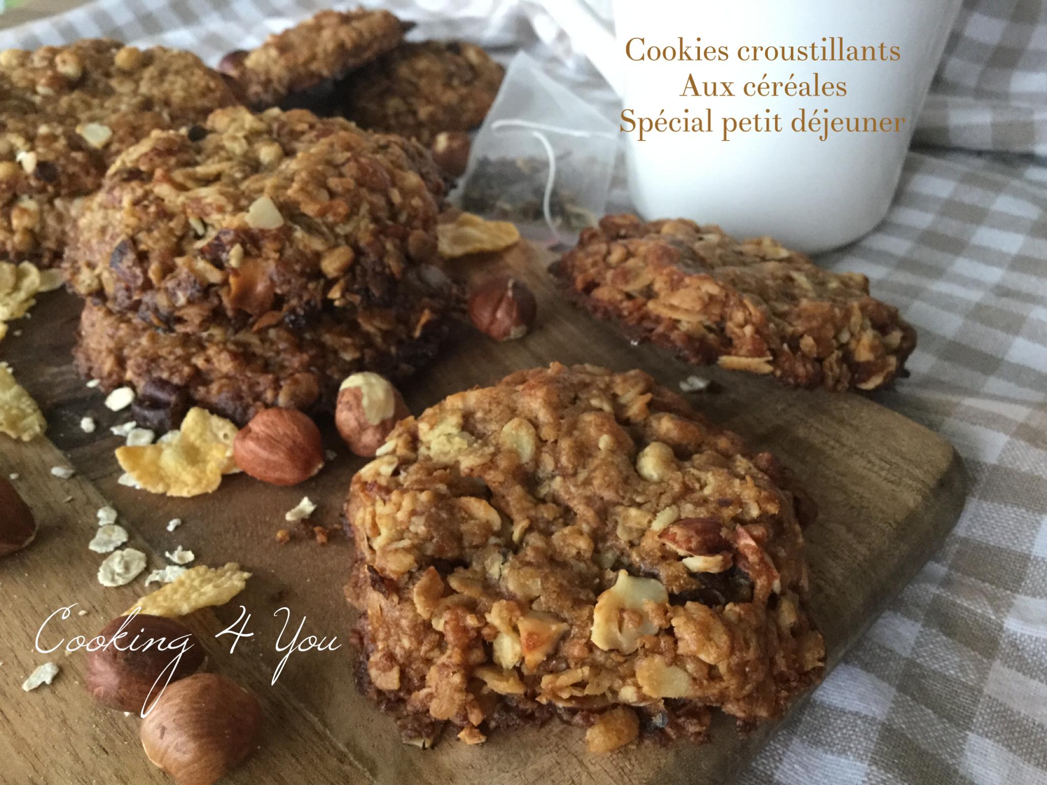 cookies croustillants aux céréales spécial petit déjeuner