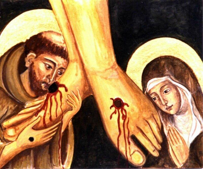 Francesco-e-Chiara-piedi-crocifisso-1024x855