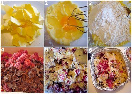 montage_cake_framboise_chcolat_noir_et_pistache