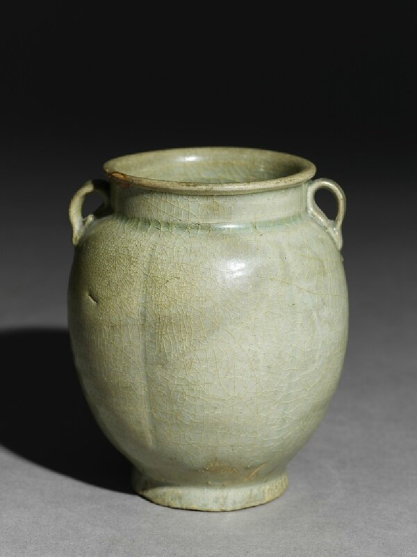 Greenware six-lobed jar with petals, Jiangxi Province or Yue kiln-sites, 10th century, Five Dynasties Period - Song Dynasty (AD 907 - 1279)
