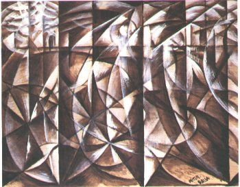Giacomo Balla, Vitesse d'une automobile + lumière, v
