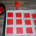 Concours avec mes sablés tout de rouge vétus!!