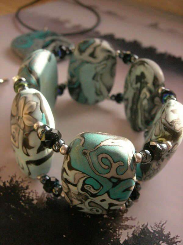 Du hidden magic turquoise et gris : le bracelet