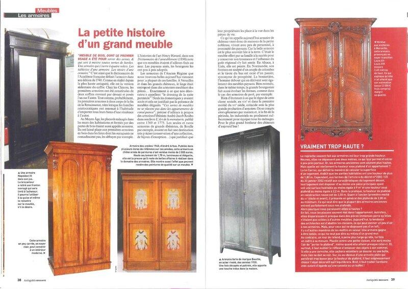 article cottage et patine antiquités brocante janvier 2014 pages 3 et 4