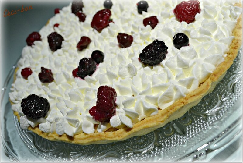 Tarte amandes et fruits rouges