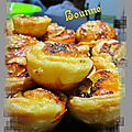Mini tartelettes poire roquefort