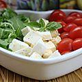 Tomates, roquette, gran mozza basilic, et 10 livres galbani à gagner pour la fête de l'italie !