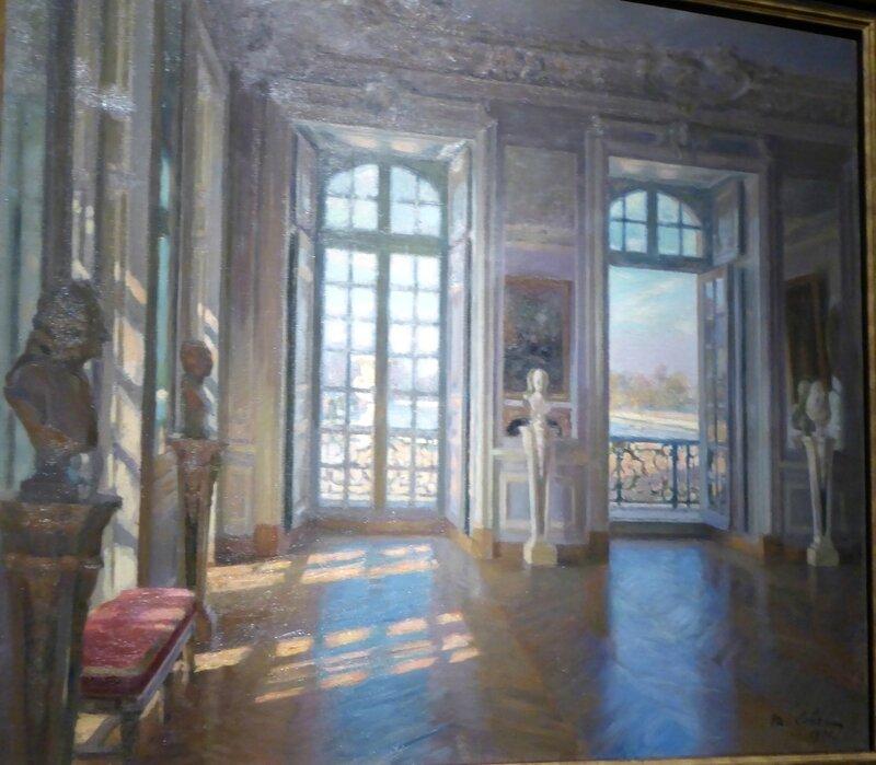 Maurice Lobre 1862-1951 Le salon du Dauphin à Versailles