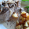 Rôti de porc cuisson lente