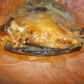 Moussaka aux lentilles corail