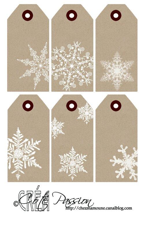 Cote Passion 6 étiquettes Noel