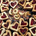 Biscuits à la framboise.