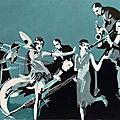 Orchestre 2, mixte sur papier, 36x26 cm