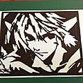 Papiers decoupés link et personnage manga