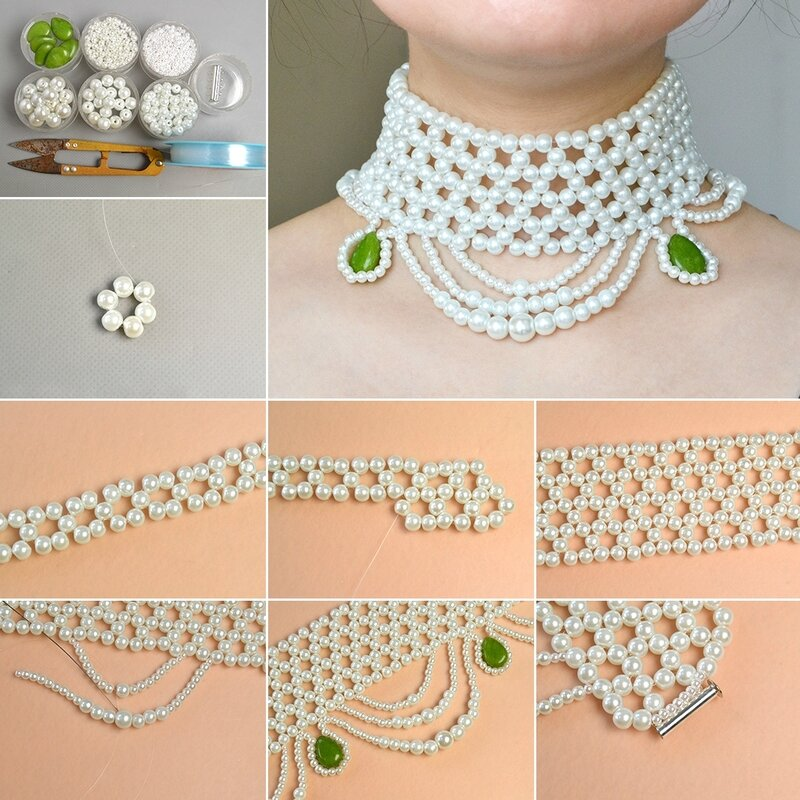 1080-Pandahall-Tutorial-on-How-to-Make-Chic-Pearl-Bead-Choker-Necklace-with-Jade-Beads