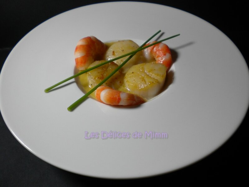 Noix de Saint-Jacques et scampis à la crème de Sauternes 2