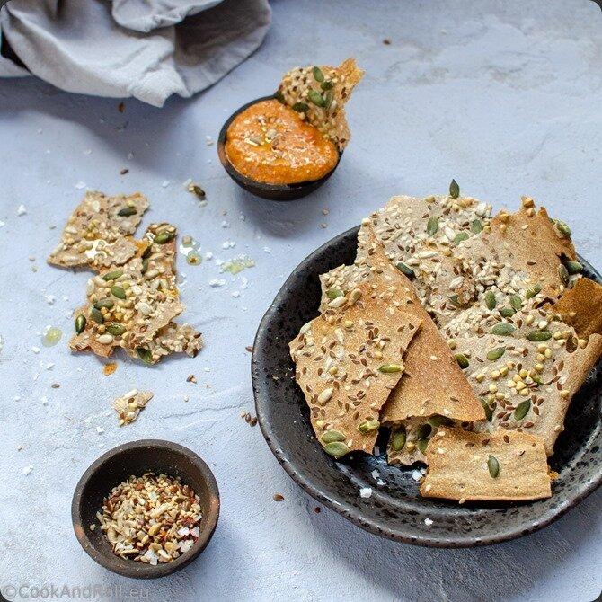 Crackers de levain aux graines