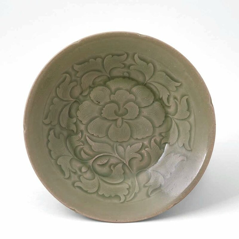 Yaozhou Peony Plate, Northern Song Dynasty, 960-1127 A