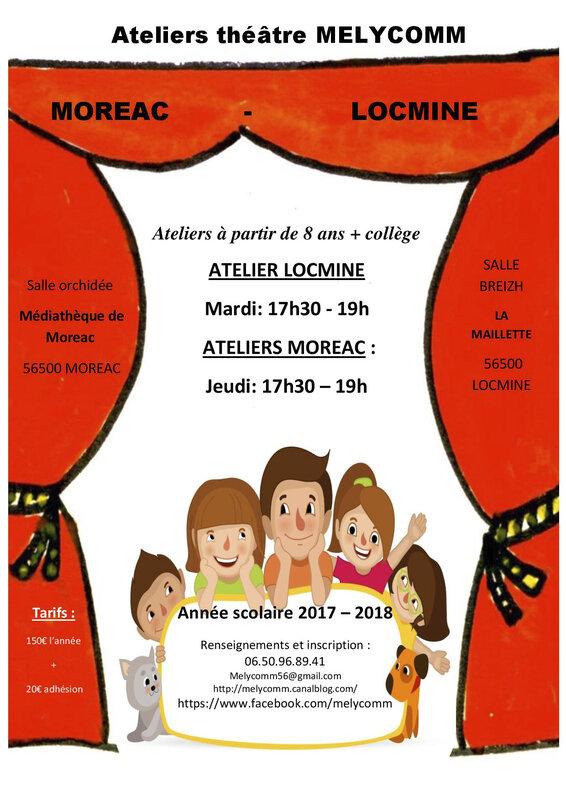 affiche cours locminé - moréac 2017 - 2018