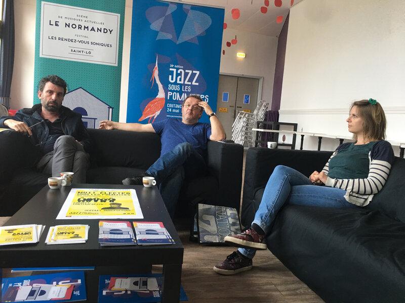 nuit électro sous les pommiers_JSLP_Coutances_Jazz_festival_2019_point-presse_Denis Le Bas_Nicolas d'Aprigny_Mathilde Alluin_Le Normandy