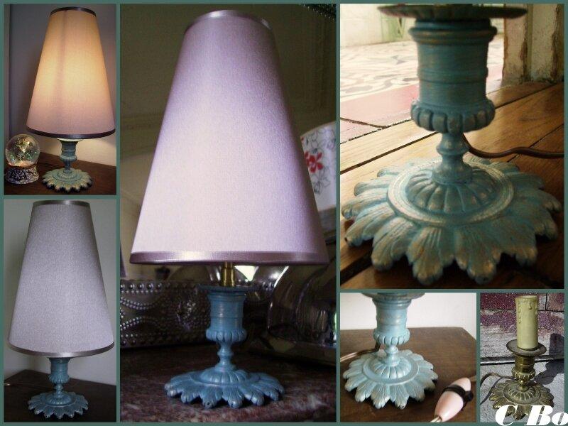 lampe bleu-montage