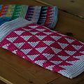 pochette jacquard au crochet