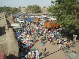 la place du marché à DJENNÉ Mali