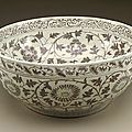 Large bowl (wan) with floral scrolls, early ming dynasty, 1368-1450