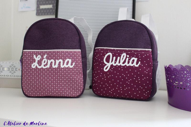 sac a dos violet jumelles 1
