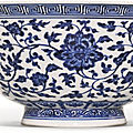 A blue and white ming-style bowl, yongzheng mark and period (1723-1735)
