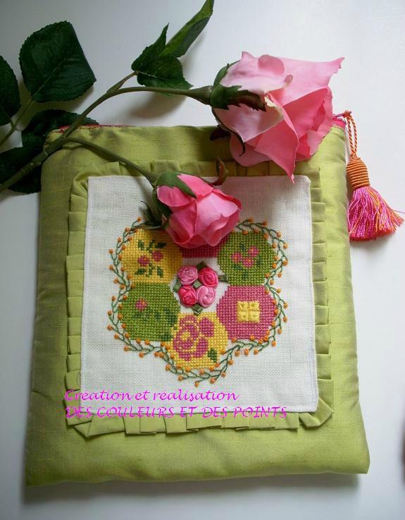 grille gratuite pochette jardin grand-mère face