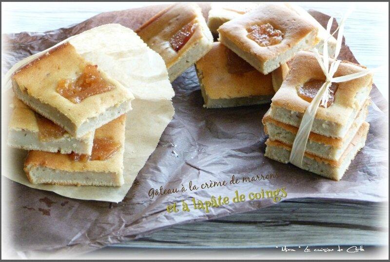 gâteau âte de coings