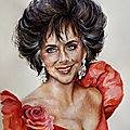 Elizabeth Taylor portrait by Valérie Albertosi