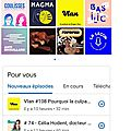 Copie écrant google Podcasts