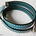 Bracelet double tour Grain