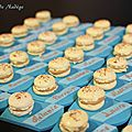 Marque place macaron vanille turquoise 4