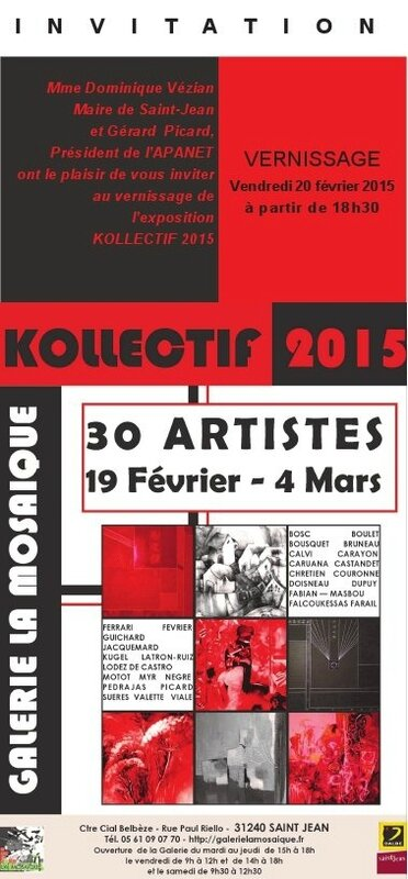 Invitation galerie mosaique expo Kollectif