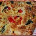 Clafoutis de courgettes et de poivrons au quinoa et boulgour