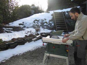 Les premières découpes sous la neige