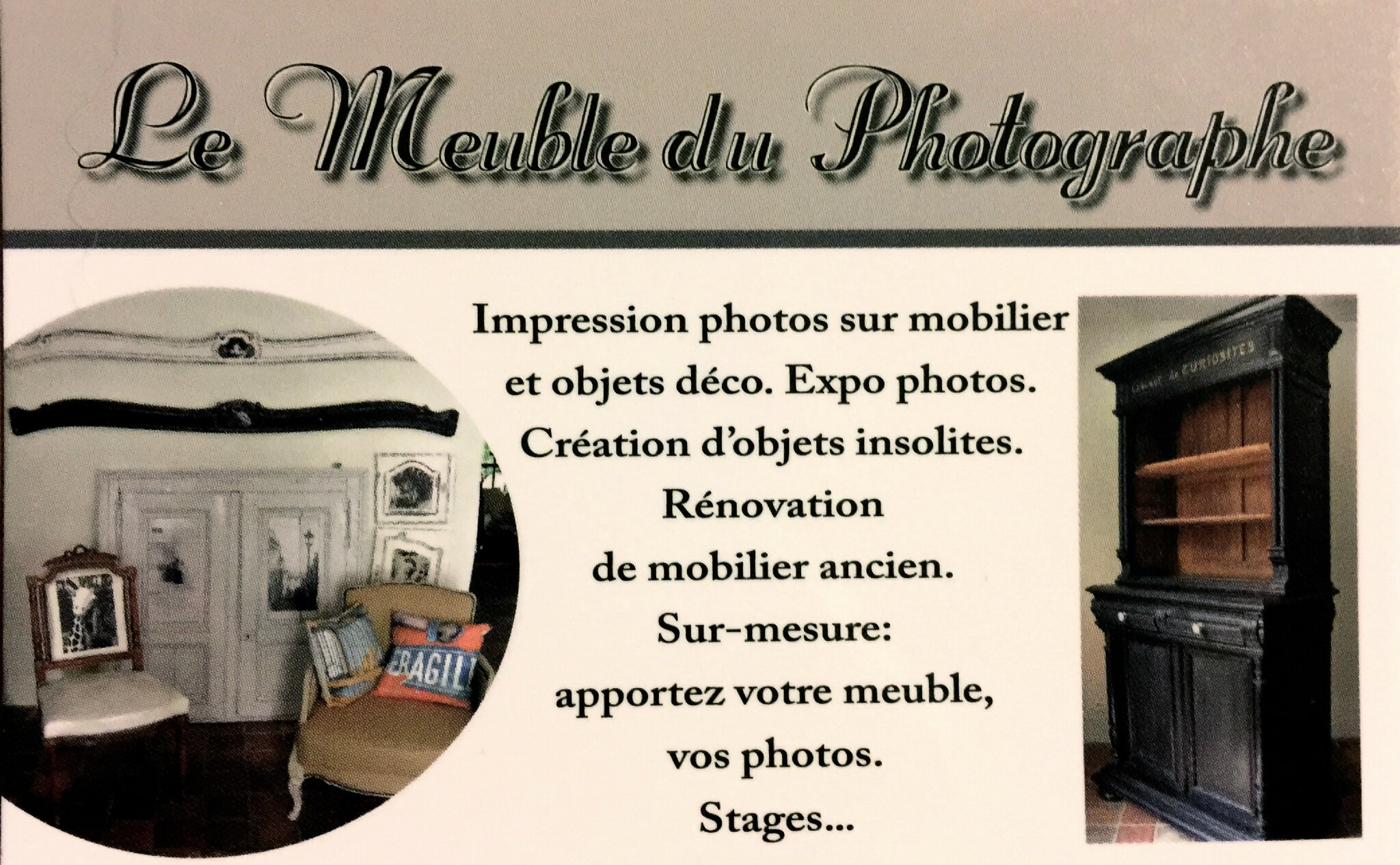 Carte De Visite Le Meuble Du Photographe