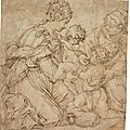 Giorgio vasari (arezzo 1511-1574 florence), the virgin and child with the infant baptist and saint anne